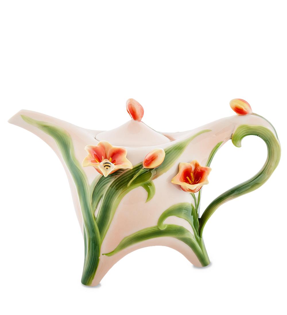 Чайник заварочный Pavone Тюльпаны, 700 мл фигурки pavone фигурка девочка кокетка pavone