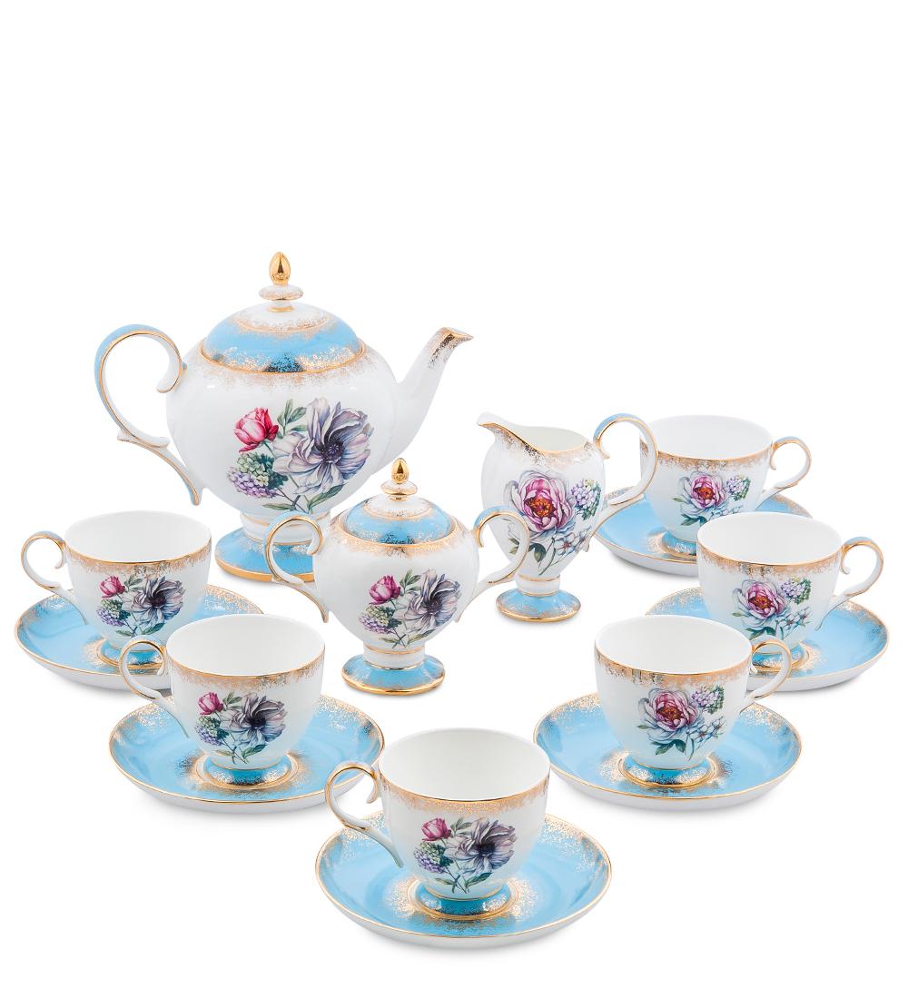 Чайный сервиз Pavone Цветок Неаполя, на 6 персон, 15 предметов451509Чайный сервиз Pavone Цветок Неаполя состоит из 6 чашек и 6 блюдец, заварочного чайника, сахарницы и молочника. Изделия выполнены из высококачественного фарфора и украшены изящным рисунком. Такой сервиз будет великолепно смотреться на столе, он отлично дополнит сервировку стола для чаепития и порадует вас изысканным дизайном и качеством исполнения. Чайный сервиз Pavone Цветок Неаполя станет хорошим подарком к любому случаю и порадует получателя. Объем чашки: 200 мл. Высота чашки: 8 см. Диаметр блюдца: 15 см.Объем чайника: 1 л.Высота чайника: 20 см.Объем сахарницы: 300 мл.Высота сахарницы: 14 см.Объем молочника: 250 мл.Высота молочника: 13 см.