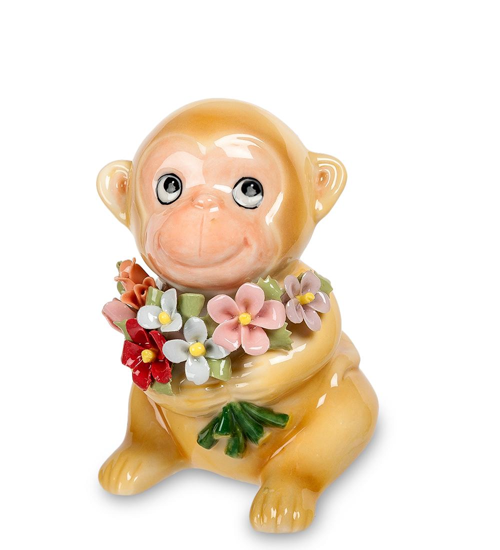 Фигурка декоративная Pavone Обезьяна с букетом фигурки pavone фигурка