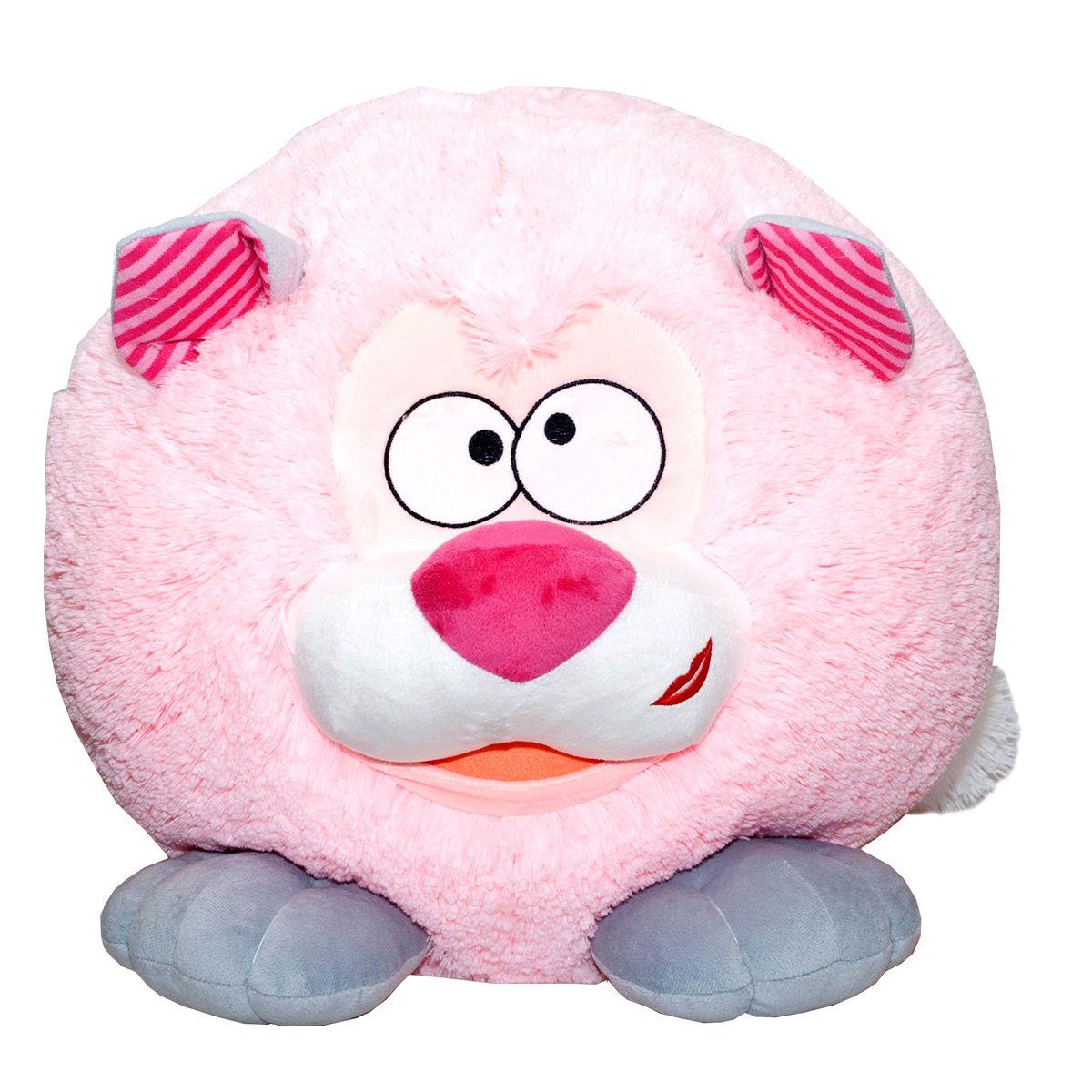 Fancy Мягкая игрушка Котенок Круглик цвет розовый 40 см