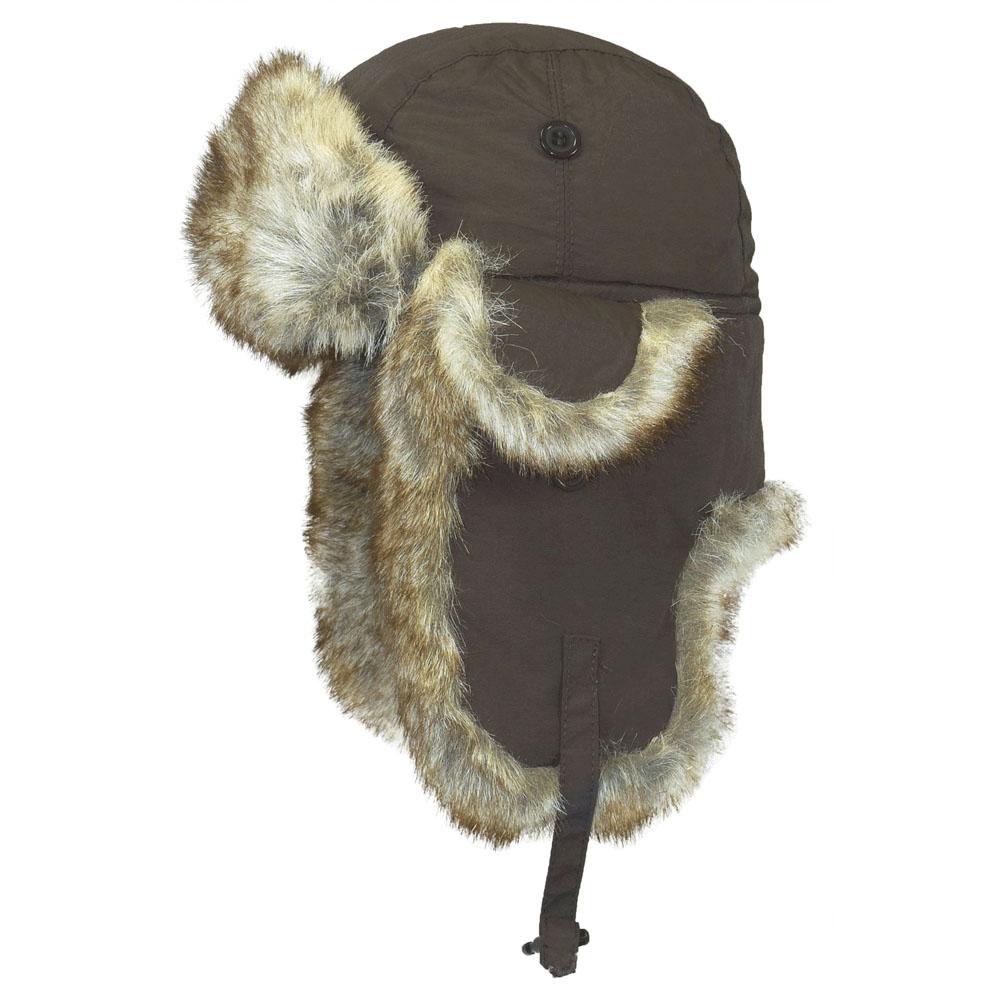 Шапка-ушанка Ignite, цвет: коричневый. B-9001. Размер L (59)B-9001Стильная шапка-ушанка Ignite с отделкой из искусственного меха - великолепный головной убор на зиму. Такое изделие, несомненно, вам понравится и поможет создать актуальный образ.Свойство ушанки сохранять тепло лежит в функциональной конструкции и деталях, плотно закрывающих лоб и уши. Модель имеет хлястик с защелкой на ушах и оформлена дополнительными декоративными мини-ушками, фиксирующими на пуговицы.Шапка-ушанка - комфортный и теплый аксессуар на самую холодную зиму.