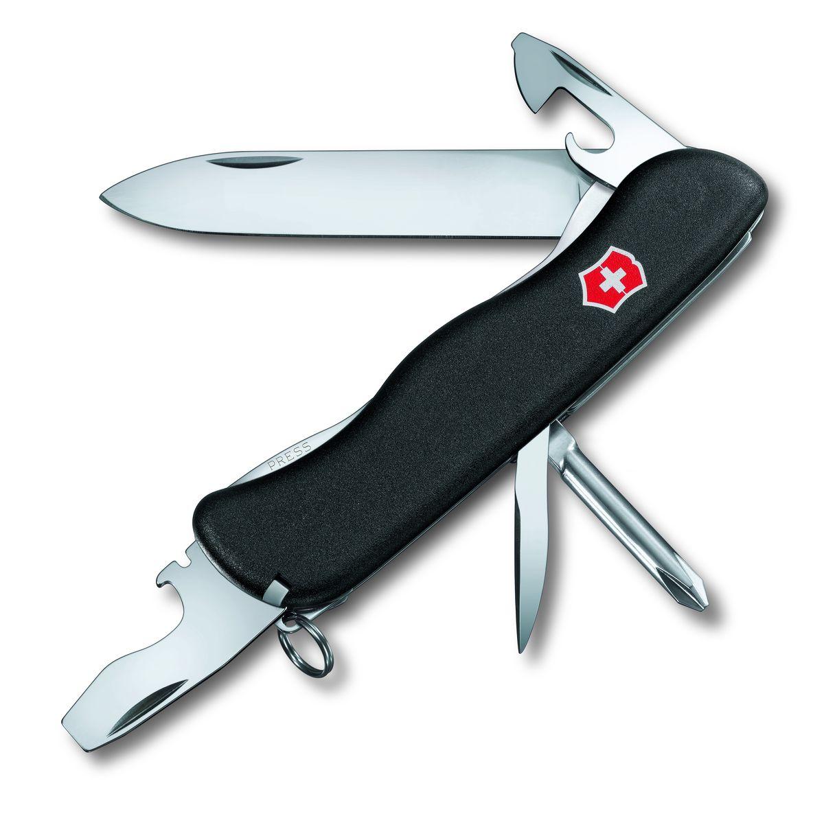 Нож перочинный Victorinox Centurion, цвет: черный, 11 функций, 11,1 см