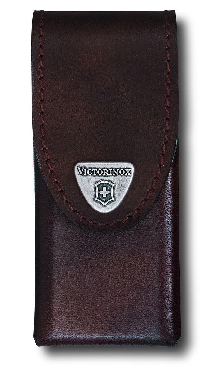 Чехол для ножей Victorinox, на ремень, цвет: коричневый, 11 см х 5,5 см4.0832.LЧехол Victorinox с застежкой-липучкой Velcro предназначен для переноски и хранения ножей. Выполнен из натуральной кожи. На закрывающем клапане находится металлическая фирменная эмблема компании Victorinox с изображением швейцарского креста. Изделие можно повесить на ремень при помощи специальной петли. Дополнительное отделение позволяет переносить полезные мелочи.