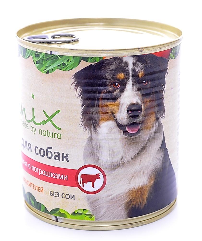 Консервы для собак Organix, с говядиной и потрошками, 750 г18071Консервы Organix - вкусныйконсервированный корм для собак с говядиной ипотрошками. Изготовлен из 100% свежего мясаразличного вида. Не содержит искусственныхкрасителей, ароматизаторов или консервантов, ГМО.Специальная обработка помогает сохранять кормдлительное время. Приготовлены из тщательноотобранных сортов мяса, которые внесут приятноеразнообразие в меню вашей собаки.Корм разработан для обеспечения всех питательныхпотребностей взрослых собак.Состав: говядина, рубец, печень, сердце, легкое,натуральная желирующая добавка, злаки (не более 2%),соль, растительное масло, вода.В 100 г продукта: протеин - 8,0, жир - 6,0, углеводы - 4,0,клетчатка - 0,2, зола - 2,0, влага - до 80%. Энергетическая ценность: 102 ккал. Товар сертифицирован.