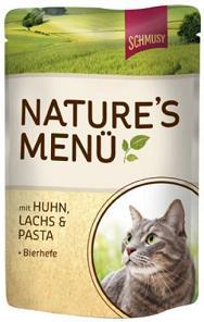 Консервы для кошек Schmusy Nature, с курицей и лососем, 100 г70011Консервы Schmusy Nature - это полноценная еда для кошек и котов. Консервы богаты содержанием отборного мяса, потому что кошки - это настоящие хищники и нуждаются в пище, богатой белками. В этих пакетикахх маленькие кусочки мяса залиты деликатным соусом. Кроме отборного мяса в состав входят пивные дрожжи, которые укрепляют имунную систему кошек. Также добавлен таурин для правильного развития организма кошек. Состав: курица, лосось, отборное мясо, печень, мясные субпродукты, паста, пивные дрожжи, минеральные вещества. Товар сертифицирован.