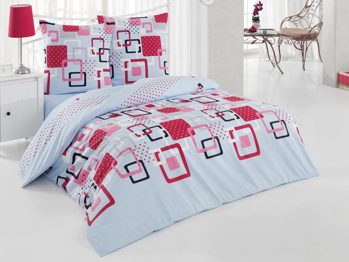Комплект белья Tete-a-tete Classic Квадро, 2-спальный, наволочки 70х70, цвет: голубой, бордовый, коралловыйК-8065Комплект постельного белья Tete-a-Tete Classic Квадро является экологически безопасным для всей семьи, так как выполнен из бязи (100% натурального хлопка). Комплект состоит из пододеяльника, простыни и двух наволочек. Постельное белье, оформленное изящным принтом, послужит прекрасным дополнением к интерьеру вашей спальной комнаты.Гладкая структура делает ткань приятной на ощупь, мягкой и нежной, при этом она прочная и хорошо сохраняет форму. Ткань легко гладится, не линяет и не садится. Комплект постельного белья Tete-a-Tete Classic Квадро станет отличным дополнением вашего интерьера и подарит гармоничный сон.Советы по выбору постельного белья от блогера Ирины Соковых. Статья OZON Гид