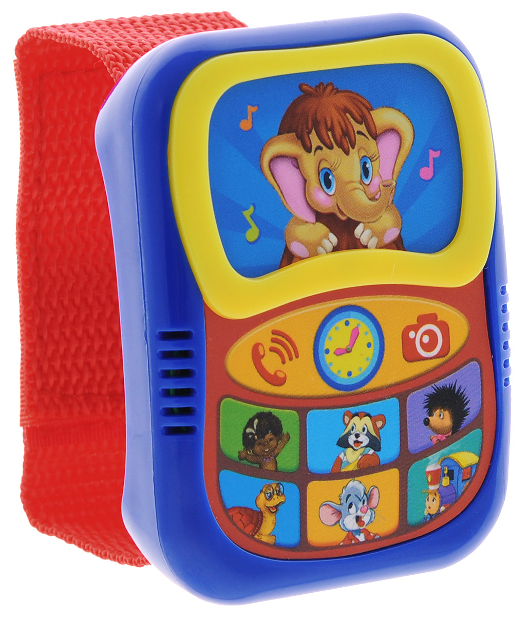 Азбукварик Музыкальная игрушка Говорящий плеер-часики цвет синий красный