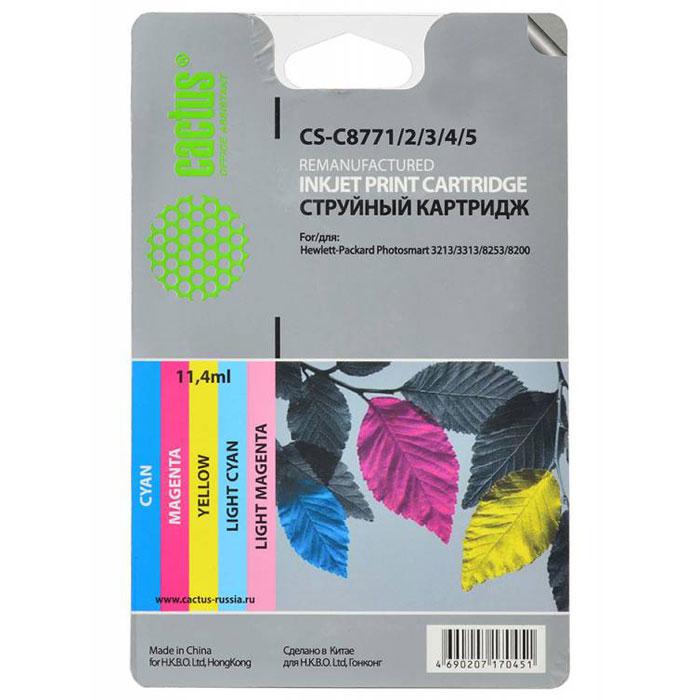 Cactus CS-C8771/2/3/4/5, Color комплект струйных картриджей для HP PhotoSmart 3213/3313/8253/C5183/C6183/C6283CS-C8771/2/3/4/5Каждый, кто пользуется печатающими устройствами знает, что они не обходятся без расходных материалов. Ощутите надежное и профессиональное качество печати с Cactus CS-C8771/2/3/4/5. С этим комплектом картриджей значительно увеличится эффективность работы, так как их ресурса хватит на длительный период.Подходят для HP PhotoSmart 3213/3313/8253/C5183/C6183/C6283