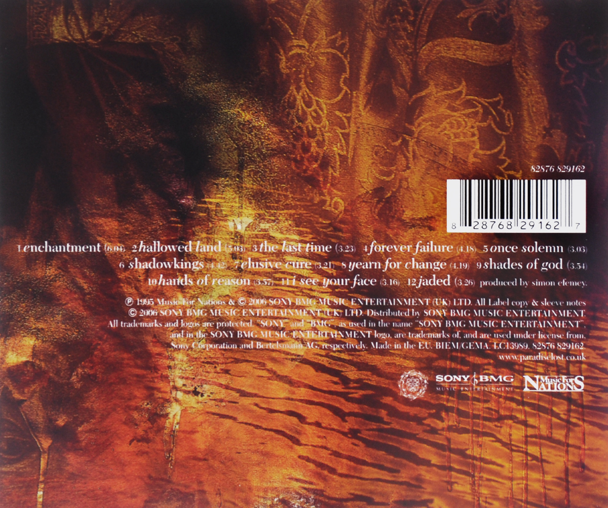 Paradise Lost.  Draconian Times Warner Music,Sony BMG Music Entertainment