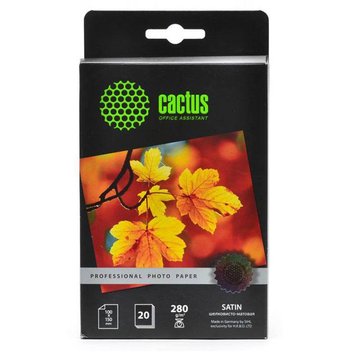 Cactus CS-SMA628020 Professional шелковисто-матовая фотобумагаCS-SMA628020Шелковисто-матовая фотобумага Cactus CS-SMA628020 Professional.Шелковисто-матовая бумага или Сатин - это фотобумага уровня премиум, которая наиболее похожа напривычные нам распечатки из фотолабораторий. Произведенная на высокотехнической полимерной основе, онаполностью влагонепроницаема. Сатин от Cactus обладает зернистой текстурой и оригинальным шелковымблеском, где каждое зерно играет лучах света и улучшает ваши памятные фотографии