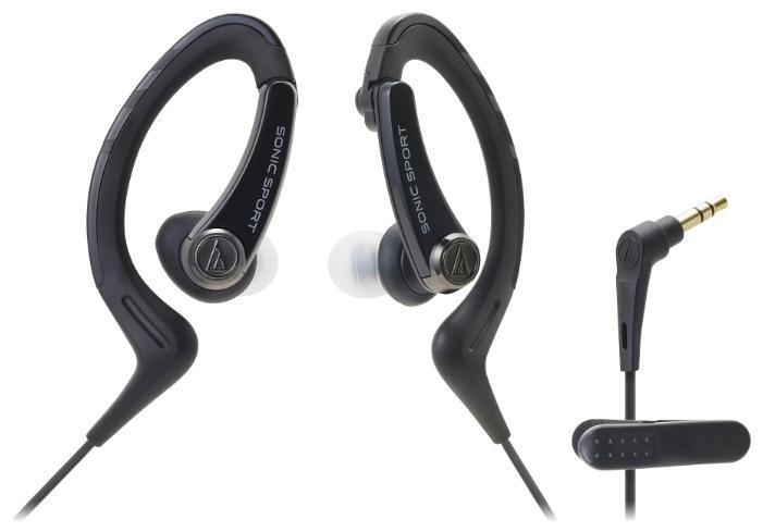 Audio-Technica ATH-Sport1, Black наушникиATH-SPORT1 BKНаушники-аксессуар, идеальны для занятий спортомУдобное гибкое резиновое крепление за ухом Долгие часы динамичного звучания Влагозащита уровня IXP5 Укороченный кабель с клипсой