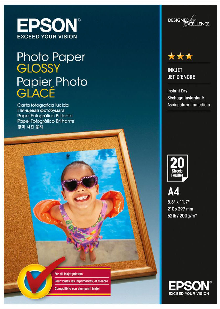 Epson Photo Paper (C13S042538) фотобумага A4, 20 л manual paper creaser 350mm a4 size paper creasing machine