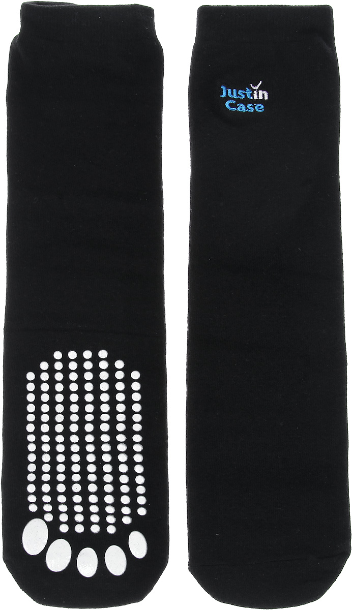 Носки унисекс JustinCase, с массажным эффектом, цвет: черный. Е563. Размер 37-43