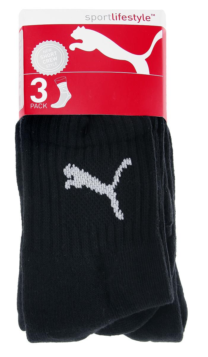 Носки унисекс Puma, цвет: черный, 3 пары. 90611002. Размер 47/49 носки мужские puma sport цвет черный 3 пары 88035501 размер 47 49