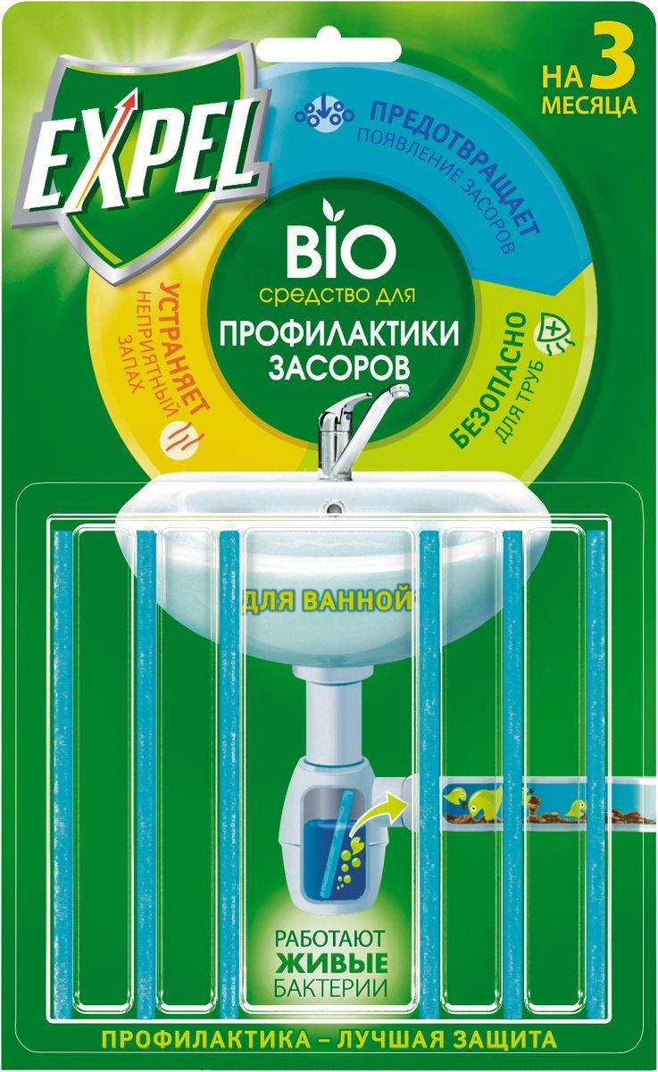 Средство для профилактики засоров Expel, 2 г, 6 шт38590303Средство Expel - это композиция высокоэффективных энзимов и бактерий для профилактики засоров в трубах и уменьшения неприятного запаха из раковины. Средство перерабатывает жировые и белковые пищевые отходы, препятствуя их накоплению на стенках труб. Не наносит вред канализационным трубам из любого материала. Попадая в сифон, палочка постепенно растворяется в токе воды в течение 2-х недель, непрерывно высвобождая бактерии и энзимы. Средство не устраняет уже существующий засор, а служит для профилактики засоров в трубах. Состав: 30% полимерный носитель. Товар сертифицирован.