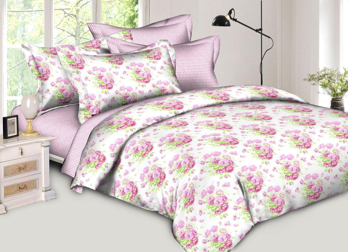 Комплект белья Диана La Vanille, 1,5-спальный, наволочки 70х70, цвет: белый, зеленый, розовый. С-651-143-150-70С-651-143-150-70Комплект постельного белья Диана La Vanille состоит из пододеяльника, простыни и двух наволочек. Белье бесшовное, оформлено оригинальным рисунком и имеет изысканный внешний вид. Изготовлено из бязи люкс (100% хлопка).Бязь - это ткань из экологически чистого и натурального 100% хлопка. Неоспоримым плюсом белья из такой ткани является мягкость и легкость, она прекрасно пропускает воздух, приятна на ощупь, не образует катышков на поверхности и за ней легко ухаживать. При соблюдении рекомендаций по уходу это белье выдерживает много стирок, не линяет и не теряет свою первоначальную прочность. Уникальная ткань обеспечивает легкую глажку.Приобретая комплект постельного белья Диана La Vanille, вы можете быть уверенны в том, что покупка доставит вам и вашим близким удовольствие и подарит максимальный комфорт.