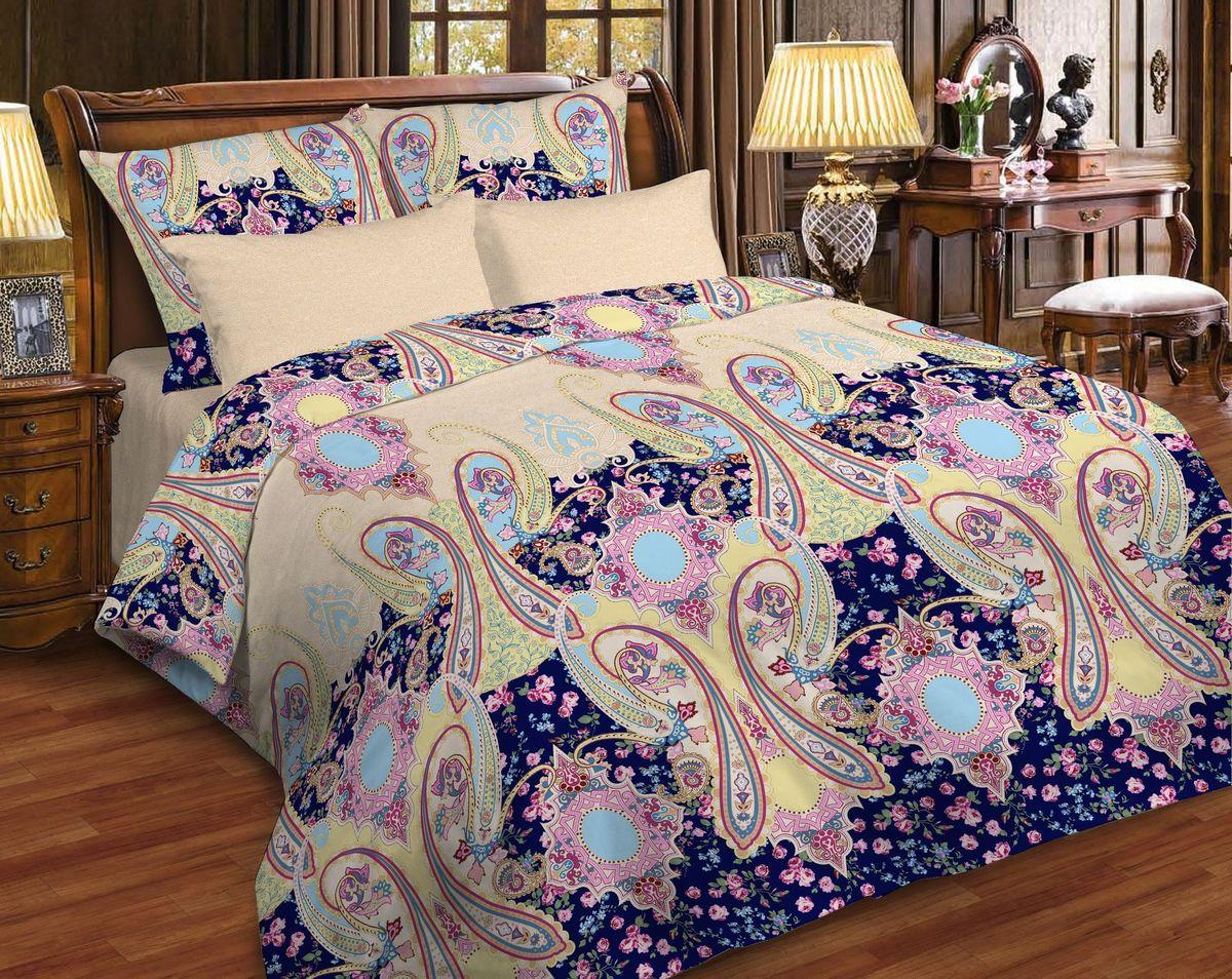 Комплект белья Диана La Vanille, 2-спальный, наволочки 70х70, цвет: фиолетовый, бордовый, песочный. С-662-175-180-70С-662-175-180-70Комплект постельного белья Диана La Vanille состоит из пододеяльника, простыни и двух наволочек. Белье бесшовное, оформлено оригинальным узором и имеет изысканный внешний вид. Изготовлено из бязи люкс (100% хлопка).Бязь - это ткань из экологически чистого и натурального 100% хлопка. Неоспоримым плюсом белья из такой ткани является мягкость и легкость, она прекрасно пропускает воздух, приятна на ощупь, не образует катышков на поверхности и за ней легко ухаживать. При соблюдении рекомендаций по уходу это белье выдерживает много стирок, не линяет и не теряет свою первоначальную прочность. Уникальная ткань обеспечивает легкую глажку.Приобретая комплект постельного белья Диана La Vanille, вы можете быть уверенны в том, что покупка доставит вам и вашим близким удовольствие и подарит максимальный комфорт.