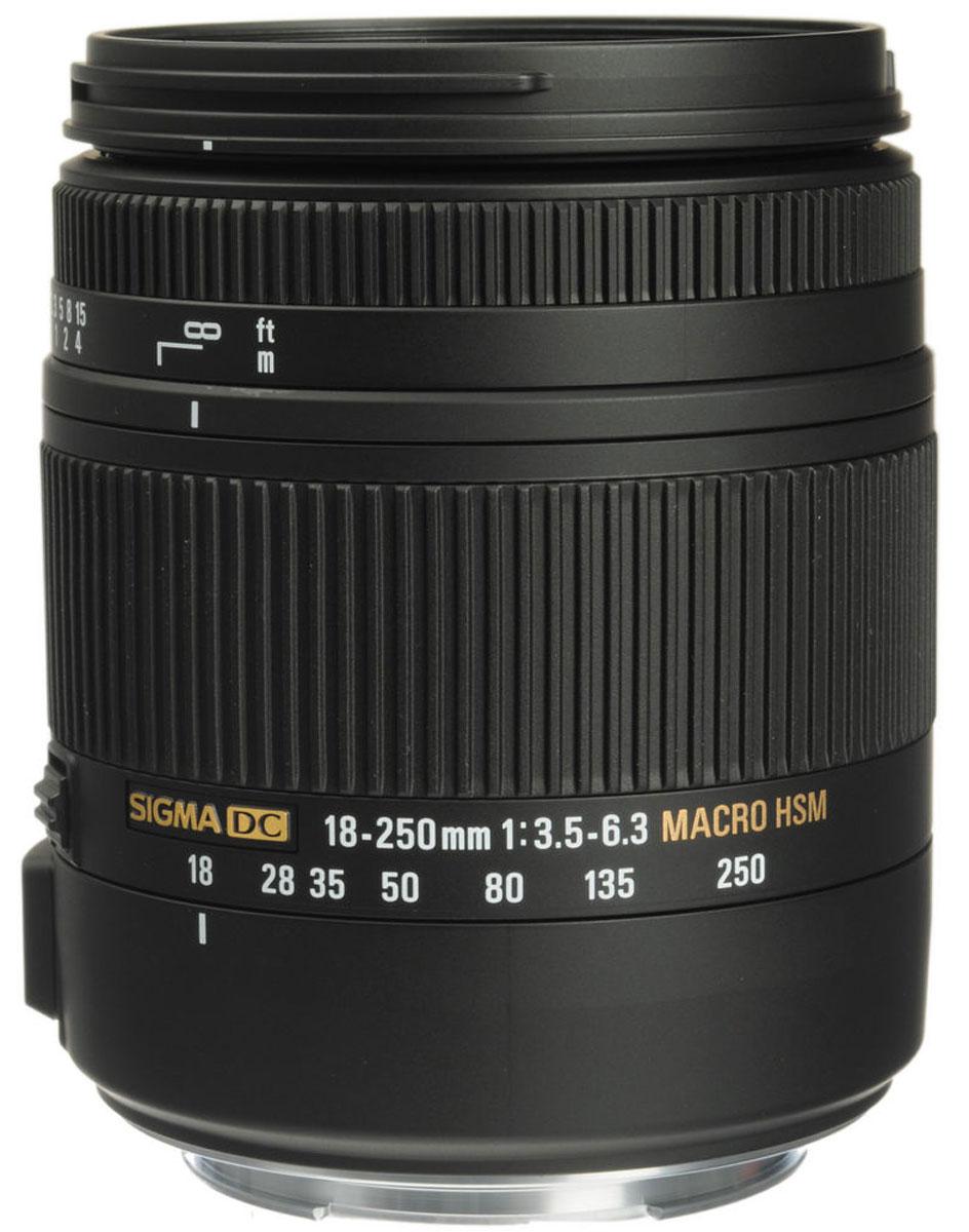 SigmaAF18-250mmF3.5-6.3DCMACROOSHSM, Black объектив для Canon