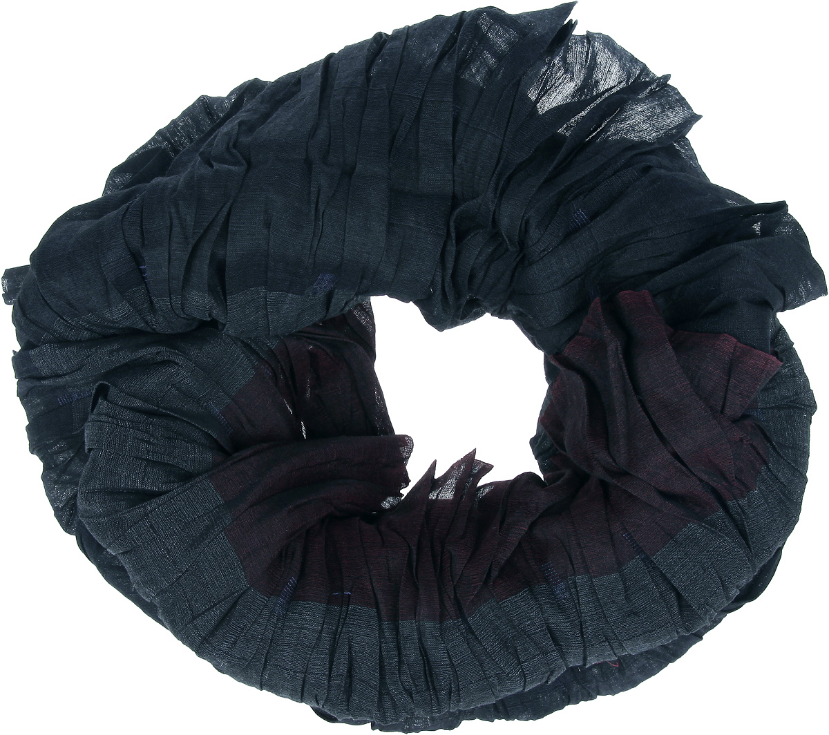 Снуд-хомут женский Eleganzza, цвет: темно-бордовый, темно-серый. JC50-63278. Размер 150 см х 40 см перчатки eleganzza is01433 navy
