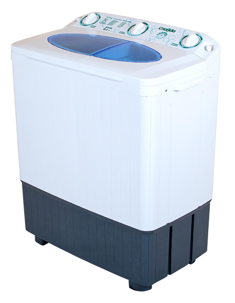 Славда WS-60PET стиральная машина4650000914577Стиральная машина полуавтомат Сладва WS-60РET российского производства с вертикальной загрузкой имеет бак объемом 6 кг, а также механическое управление. Новый, более мощный двигатель, повышает эффективность стирки. Эксклюзивная форма активатора, направлено распределяет потоки воды, что улучшает качество стирки.