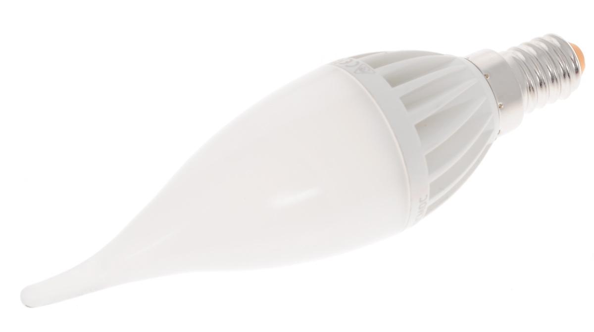 Светодиодная лампа Kosmos, теплый свет, цоколь E14, 5W, 220V. Lksm_LED5wCWE1430Lksm_LED5wCWE1430Высокоэкономичная светодиодная лампа КОСМОС LED CW 5Вт 220В E14 3000K (Lksm LED5wCWE1430) основана на применении 12-ти светодиодных чипов экстра-класса от Samsung. Способна выдавать световой поток в 460 Люмен и бесперебойно прослужить до 50-ти тысяч часов. Задержка при включении отсутствует. Световой пучок распространяется под углом в 270 градусов.