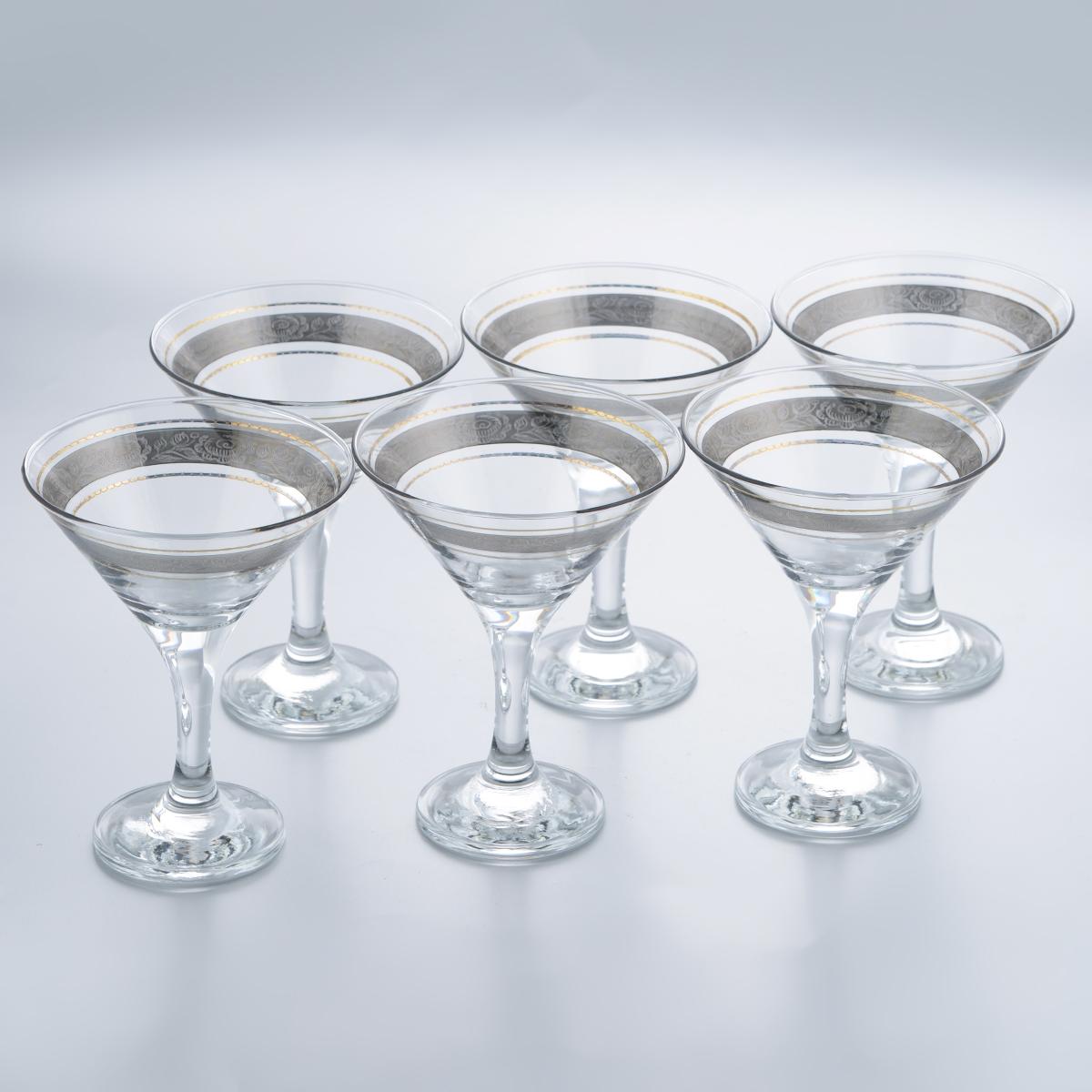 Набор бокалов для мартини Гусь-Хрустальный Первоцвет, 170 мл, 6 шт набор бокалов для бренди гусь хрустальный версаче 400 мл 6 шт