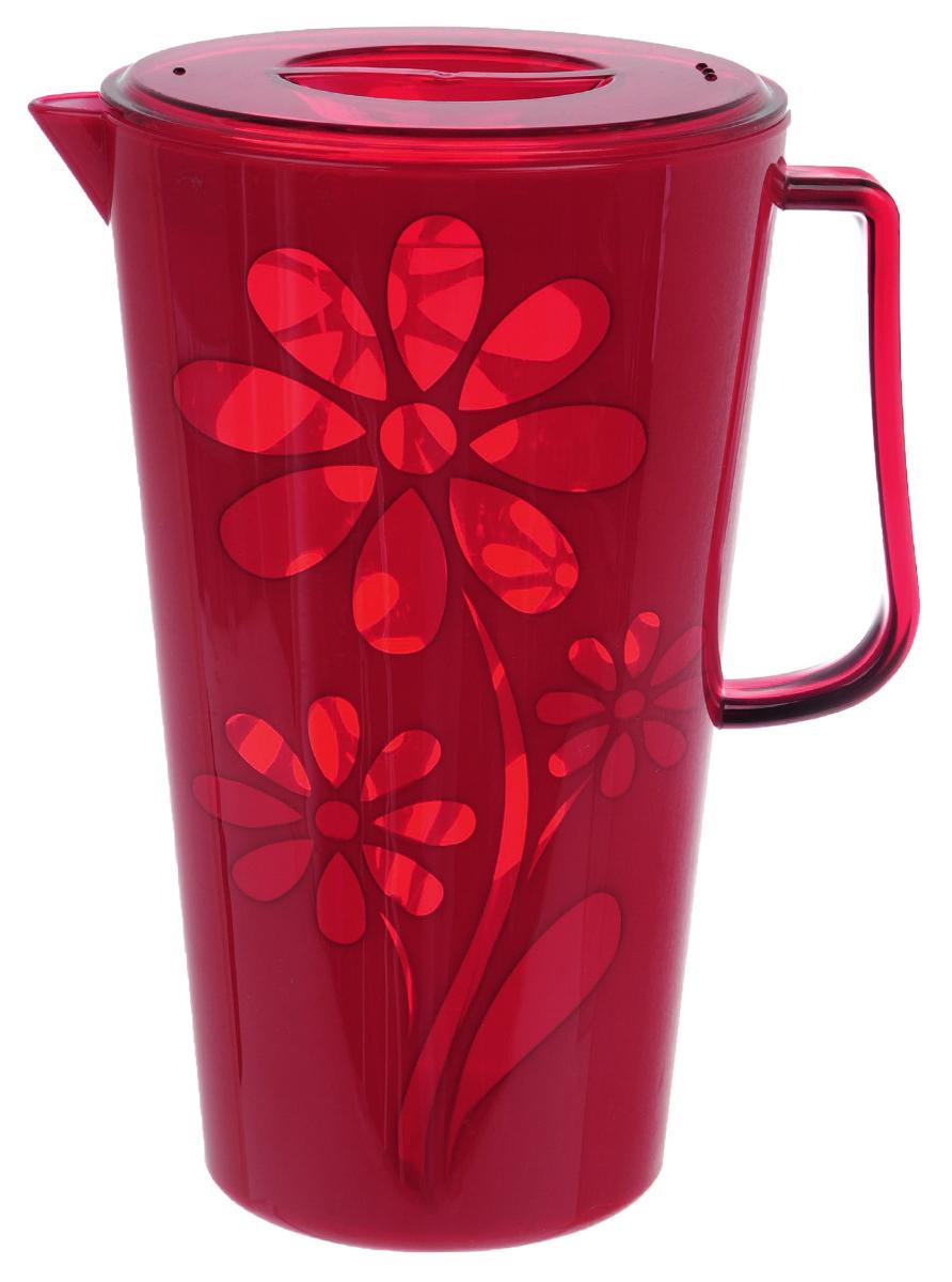 Кувшин Альтернатива Соблазн, с крышкой, цвет: красный, 2,5 лM2302Кувшин Альтернатива Соблазн выполнен из высококачественного пластика. Емкость оснащена удобной ручкой, пластиковой крышкой и отверстиями для слива воды. Изделие прекрасно подойдет для подачи воды, сока, компота и других напитков. Такой кувшин прекрасно дополнит интерьер вашей кухни и станет замечательным подарком к любому празднику.Диаметр (по верхнему краю): 14 см.Высота кувшина (без учета крышки): 24 см.