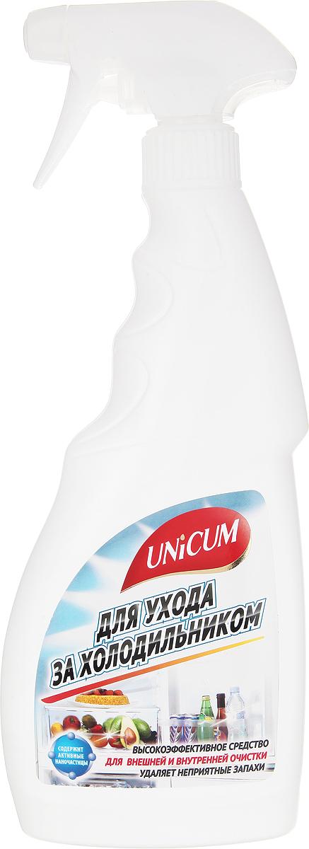Средство для ухода за холодильником Unicum, 500 мл300292Высокоэффективное средство Unicum для внешней и внутренней очистки холодильника, встроенного и настольного кухонного оборудования и кухонной мебели. Средство бережно очищает все виды декоративных и гигиенических водостойких покрытий, включая пластики, ламинат, алюминий, лакированное дерево и нержавеющую сталь. Удаляет неприятные запахи, предотвращает появление плесени и размножение бактерий в труднодоступных местах и оставляет защитный слой, препятствующий последующим загрязнениям.Состав: деминерализованная вода, НПАВ <5%, модификатор поверхности <5%, противогрибковое средство <5%, ароматизатор <5%, консервант <5%, растворитель <5%.
