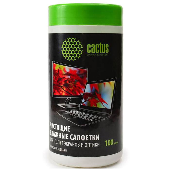 Cactus CS-T1001 влажные салфетки для экранов и оптики, 100 шт