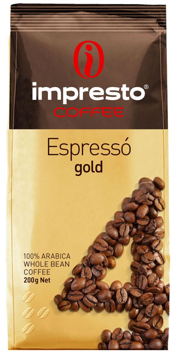 Impresto Espresso Gold кофе в зернах, 200 гCIMPCH-000008Отборный купаж для настоящих гурманов. Секрет этого кофе в безупречной гармонии моносортов с лучших плантаций мира.В ароматной чашечке эспрессо вы откроете для себя неповторимую глубину аромата и нежность долгого послевкусия.Страна: Кения, Бразилия. Коллекция Impresto – это особая линейка с оригинальными рецептурами из 100% арабики и сбалансированных купажей с робустой, а также декофеинизированный кофе и фильтр-смеси. Мы с радостью предоставляем возможность каждому ценителю кофе приготовить дома превосходный утренний американо, послеобеденную чашечку эспрессо и вечерний кофе с молоком. Купажи Impresto – это зерно с лучших плантаций мира, мастерство европейского обжарщика, тщательное купажирование и высокотехнологичное производство с приверженностью к итальянским кофейным традициям. Impresto – это не только качественный кофе, но и бренд с насыщенной эмоциональной составляющей. Impressive, rest, espresso, restaurant, presto – все это несет в себе Impresto. Новый кофе Impresto – это идеальный выбор современных и динамичных людей, которые любят и умеют ценить действительно вкусный кофе.Кофе: мифы и факты. Статья OZON Гид