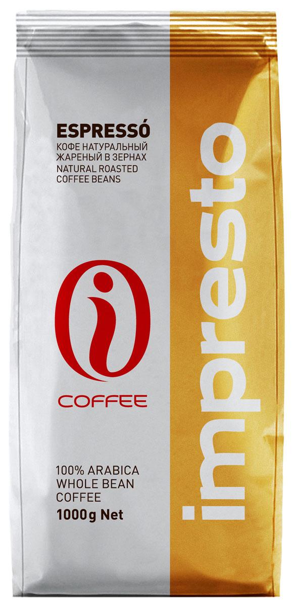 Impresto Espresso кофе в зернах, 1 кгCIMPCH-000003Смесь зёрен 100% арабики с лучших плантаций мира. Яркий вкус кофе дополняют зёрна из Кении, придающие неповторимый насыщенный аромат и долгое бархатное послевкусие. Страна: Кения, Бразилия.Коллекция Impresto – это особая линейка с оригинальными рецептурами из 100% арабики и сбалансированных купажей с робустой, а также декофеинизированный кофе и фильтр-смеси. Мы с радостью предоставляем возможность каждому ценителю кофе приготовить дома превосходный утренний американо, послеобеденную чашечку эспрессо и вечерний кофе с молоком. Купажи Impresto – это зерно с лучших плантаций мира, мастерство европейского обжарщика, тщательное купажирование и высокотехнологичное производство с приверженностью к итальянским кофейным традициямImpresto – это не только качественный кофе, но и бренд с насыщенной эмоциональной составляющей. Impressive, rest, espresso, restaurant, presto – все это несет в себе Impresto. Новый кофе Impresto – это идеальный выбор современных и динамичных людей, которые любят и умеют ценить действительно вкусный кофе.