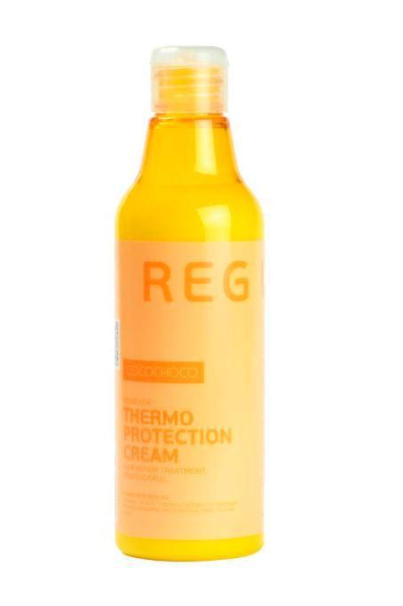 CocoChoco REGULAR Термозащитный крем 250 мл025Защита для волос от повреждений при термических воздействиях. Невидимая, но эффективная термозащита, насыщение волос кератином и питательными веществами, придание гладкости и шелковистости. Поддерживает эффект кератинового восстановления волос.