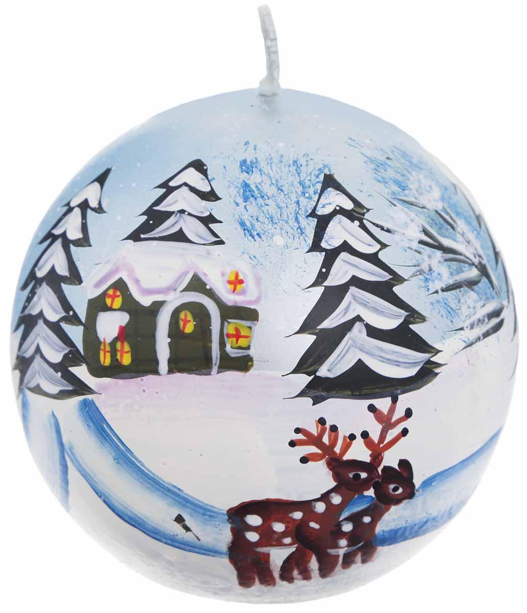 Свеча Winter Wings Зимний пейзаж, диаметр 7 смN161804Свеча Winter Wings Зимний пейзаж, изготовленная из парафина, станет прекрасным украшением интерьера помещения в преддверии Нового года.Такая свеча создаст атмосферу таинственности и загадочности и наполнит ваш дом волшебством и ощущением праздника. Хороший сувенир для друзей и близких.