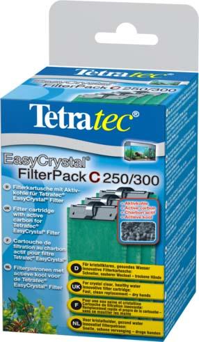 Фильтрующие картриджи Tetra EC 250/300, с углем, 3 шт151598Набор картриджей с угольным наполнителем. Картриджи подходят для внутренних фильтров EasyCrystal®Filter 250, EasyCrystal® FilterBox 300. В комплекте 3 картриджа. Фильтрующие губки выполняют интенсивную очистку воды в аквариуме механическим, химическим и биологическим путями. •для кристально прозрачной, здоровой воды;•инновационный фильтрующий картридж: аккуратная замена - руки остаются сухими;•механическая очистка: двусторонняя фильтрующая губка для надёжного удаления мельчайших частичек грязи.;•химическая фильтрация - специальный активированный уголь борется с загрязнением воды и неприятными запахами.