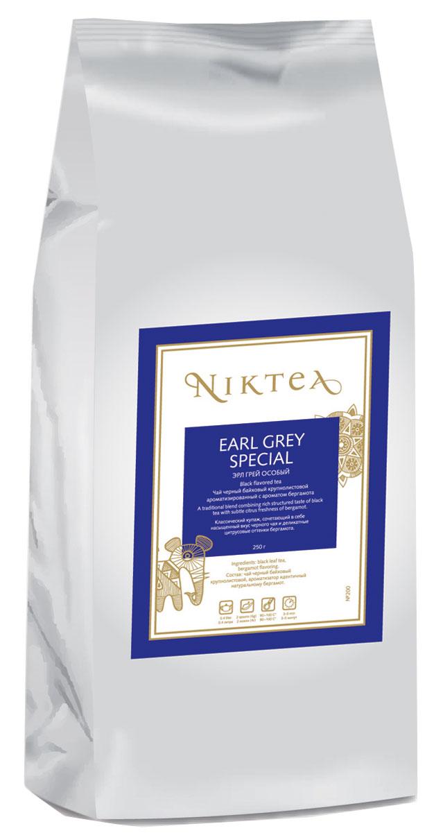 Niktea Earl Grey Special ароматизированный листовой чай, 250 гTALTHA-DP0004Niktea Earl Grey Special - классический купаж, сочетающий в себе насыщенный вкус черного чая и деликатные цитрусовые оттенки бергамота.NikTea следует правилу качество чая - это отражение качества жизни и гарантирует:Тщательно подобранные рецептуры в коллекции топовых позиций-бестселлеров.Контролируемое производство и сертификацию по международным стандартам.Закупку сырья у надежных поставщиков в главных чаеводческих районах, а также в основных центрах тимэйкерской традиции - Германии и Голландии.Постоянство качества по строго утвержденным стандартам.NikTea - это два вида фасовки - линейки листового и пакетированного чая в удобной технологичной и информативной упаковке. Чай обладает многофункциональным вкусоароматическим профилем и подходит для любого типа кухни, при этом постоянно осуществляет оптимизацию базовой коллекции в соответствии с новыми тенденциями чайного рынка.Листовая коллекция NikTea представлена в герметичной фольгированной упаковке, которая эффективно предохраняет чай от воздействия света, влаги и посторонних запахов, обеспечивая длительное хранение. Каждая упаковка снабжена этикеткой с подробным описанием чая, его состава, а также способа заваривания.Всё о чае: сорта, факты, советы по выбору и употреблению. Статья OZON Гид