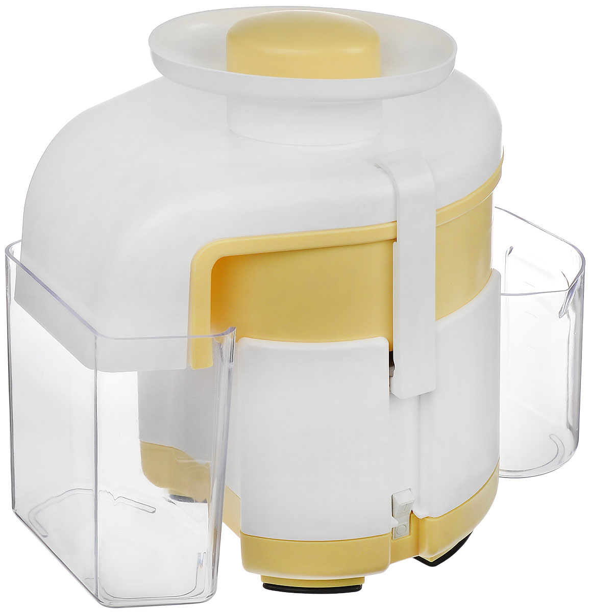 Журавинка СВСП 102 П, White Yellow соковыжималкаСК СВСП 102ПЖуравинка СВСП 102 П - персональная соковыжималка с ручным сбросом жмыха, который позволяет выжать весь сок до последней капли. Неограниченное время работы дает возможность отжимать любое количество сока за один раз. Простая сборка и уход. В данной ценовой категории модель находится вне конкуренции. Достаточно высокая производительность позволяет применять соковыжималку при сезонной заготовке сока, а сравнительно небольшие габариты и масса делают ее удобной и при ежедневном использовании.Производительность: 550 г/мин