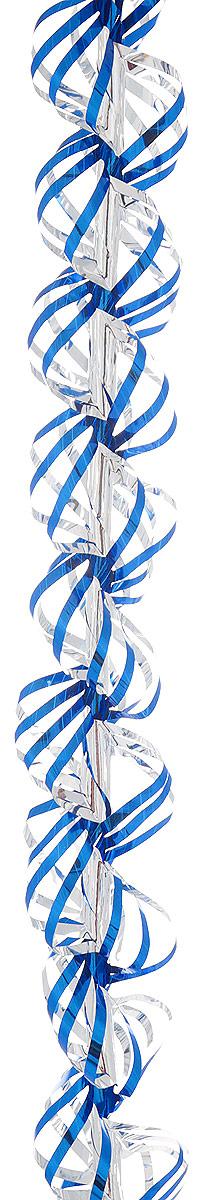 Мишура новогодняя Sima-land, цвет: синий, серебристый, диаметр 3 см, длина 150 см. 7014632137147Новогодняя мишура Sima-land, выполненная из фольги, поможет вам украсить свой дом к предстоящим праздникам. А новогодняя елка с таким украшением станет еще наряднее.Новогодней мишурой можно украсить все, что угодно - елку, квартиру, дачу, офис - как внутри, так и снаружи. Можно сложить новогодние поздравления, буквы и цифры, мишурой можно украсить и дополнить гирлянды, можно выделить дверные колонны, оплести дверные проемы.Коллекция декоративных украшений из серии Зимнее волшебство принесет в ваш дом ни с чем не сравнимое ощущение праздника! Создайте в своем доме атмосферу тепла, веселья и радости, украшая его всей семьей.