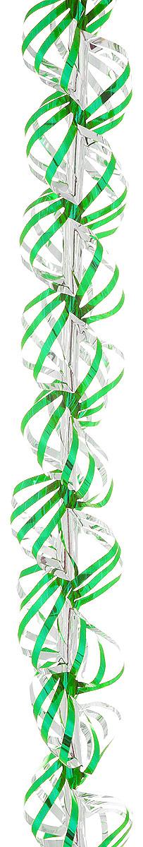 Мишура новогодняя Sima-land, цвет: зеленый, серебристый, диаметр 3 см, длина 150 см. 701463701463_зеленый/серебристыйНовогодняя мишура Sima-land, выполненная из фольги, поможет вам украсить свой дом к предстоящим праздникам. А новогодняя елка с таким украшением станет еще наряднее.Новогодней мишурой можно украсить все, что угодно - елку, квартиру, дачу, офис - как внутри, так и снаружи. Можно сложить новогодние поздравления, буквы и цифры, мишурой можно украсить и дополнить гирлянды, можно выделить дверные колонны, оплести дверные проемы.Коллекция декоративных украшений из серии Зимнее волшебство принесет в ваш дом ни с чем не сравнимое ощущение праздника! Создайте в своем доме атмосферу тепла, веселья и радости, украшая его всей семьей.