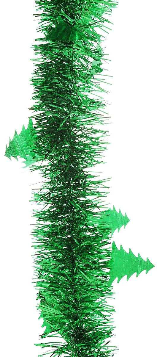 """Мишура новогодняя """"Sima-land"""", цвет: зеленый, диаметр 5 см, длина 200 см. 702610"""