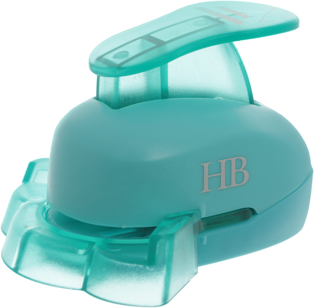 Дырокол фигурный Hobbyboom, угловой, цвет: бирюзовый, №11, 2,5 смKM-8810M-011Фигурный угловой дырокол Hobbyboom поможет вам легко, просто и аккуратно вырезать много одинаковых мелких фигурок.Режущие части компостера закрыты пластмассовым корпусом, что обеспечивает безопасность для детей. Вырезанные фигурки накапливаются в специальном резервуаре. Можно использовать вырезанные мотивы как конфетти или для наклеивания. Угловой дырокол подходит для разных техник: декупажа, скрапбукинга, декорирования. Рекомендуемая плотность бумаги - 120-180 г/м2. Размер готовой фигурки: 2,5 см х 1,8 см.