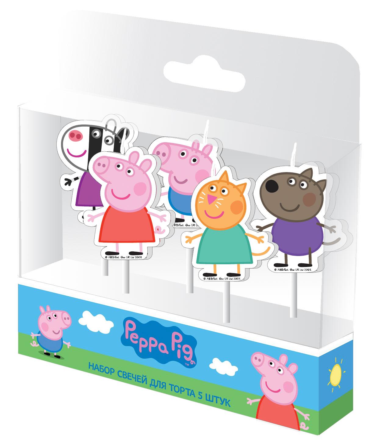 Peppa Pig Набор свечей Пеппа и друзья на палочках 5 шт peppa pig игровой набор пеппа и друзья 24312 6 фигурок