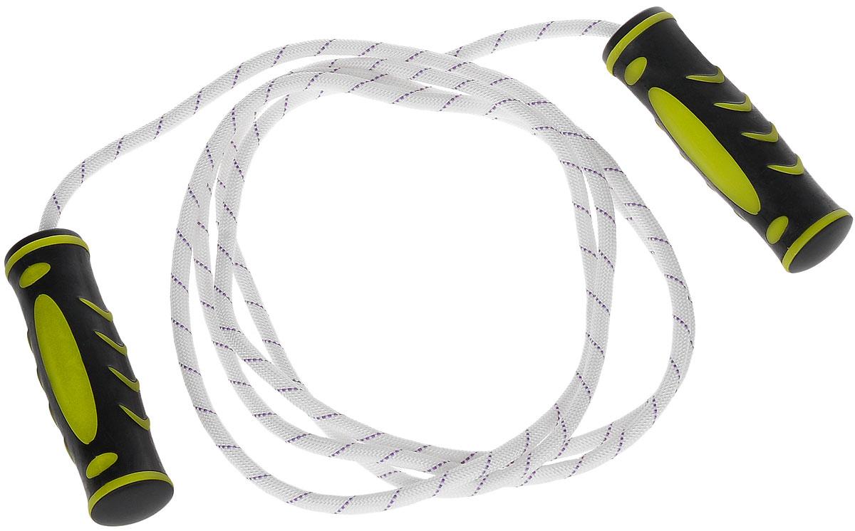 Скакалка Ironmaster, 300 смIR97129Скакалка Ironmaster рекомендуется для использования во время тренировок спортсменов. Скакалка позволяет задействовать большое количество рабочих мышц и улучшает работу сердечно-сосудистой системы. Трос скакалки выполнен из хлопка, ручки - из полипропилена с резиновыми вставками. Фигурные рукоятки плотно ложатся в руку и не выскальзывают во время тренировок. Длина скакалки с учетом ручек: 300 см.Длина скакалки без учета ручек: 275 см.Размер ручек: 12,5 см х 3,5 см х 3,5 см.Как выбрать кардиотренажер для похудения. Статья OZON Гид