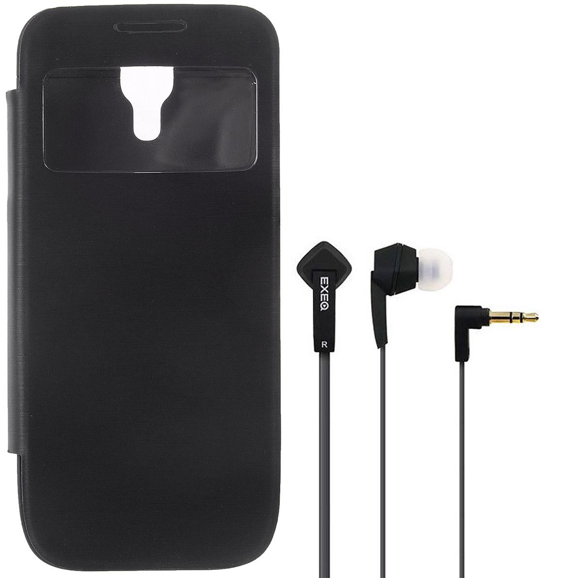 EXEQ HelpinG-SF04 чехол-аккумулятор для Samsung Galaxy S4 mini, Black (2200 мАч, флип-кейс)HelpinG-SF04 BLExeq HelpinG-SF04 - элегантный аксессуар для Samsung Galaxy S4 Mini, идеально сочетающий в себе надежный чехол и дополнительный аккумулятор. Как чехол HelpinG-SF04 надежно защитит смартфон от загрязнений, царапин и ударов. Причем надежная защита будет обеспечена не только задней и боковым панелям телефона, но и дисплею - чехол оснащен специальной откидной крышкой Smart-cover, которая не только защитит дисплей, но и позволит регулировать работу экрана. Как внешний аккумулятор с емкостью в 2200 мАч HelpinG-SF04 способен увеличить время работы смартфона в два раза, обеспечив дополнительную подпитку батареи в самые необходимые моменты. При этом чехол-аккумулятор имеет настолько компактные размеры, что его подсоединение практически не повлияет на габариты самого смартфона. Конструкция чехла предусматривает удобный доступ ко всем элементам управления смартфона, камере, встроенному микрофону и динамику. Даже зарядку телефона можно осуществлять непосредственно через чехол, просто подсоединив зарядное устройство телефона к чехлу и нажав кнопку питания на чехле (если кнопку не нажимать, то будет происходить зарядка чехла). Аналогично происходит и подключение телефона к компьютеру - HelpinG-SF04 обеспечивает идеальную передачу данных между смартфоном и другими электронными устройствами.В комплект также входят высококачественные наушники Exeq HPC-002 с плоским кабелем с защитой от спутывания. Для блокировки нежелательных шумов в комплекте с наушниками поставляются мягкие силиконовые амбушюры 3-х размеров, которые удобно помещаются в ушах и не оказывают давления на ушную раковину. Прочный L-образный штекер с позолоченным коннектором 3,5 мм позволит комфортно подключить Exeq HPC-002 ко многим портативным устройствам.Технические характеристики Exeq HPC-002:Частотный диапазон: 19-20000 ГцДинамики: 10 ммЧувствительность: 105 дБИмпеданс: 16 Ом