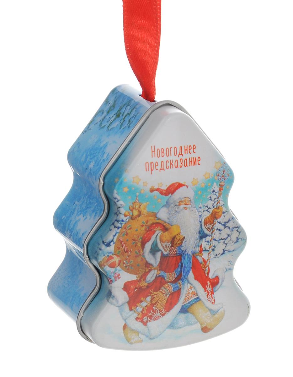 Новогоднее подвесное украшение Феникс-Презент Елка с новогодним пожеланием внутри, 5 см х 3,7 см х 7 см. 38167_838167_8Новогоднее украшение Феникс-Презент Елка с новогодним пожеланием внутриотлично подойдет для декорации вашего дома и ели. Изделие выполнено изметалла в виде елочки и декорировано рисунком. Фигурка оснащена специальной петелькой для подвешивания. Внутри украшения находится свертокс новогодним пожеланием, которое подарит хорошее настроение и уверенности вследующем году.Елочная игрушка - символ Нового года. Она несет в себе волшебство и красотупраздника. Создайте в своем доме атмосферу веселья и радости, украшая всейсемьей новогоднюю елку нарядными игрушками, которые будут из года в годнакапливать теплоту воспоминаний. Размер фигурки: 5 см х 3,7 см х 7 см.
