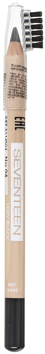 SEVENTEEN Карандаш для бровей с щеточкой т.04 LONGSTAY EYE BROW SHAPER чёрный, 1,14 грD215235005/D215236205Seventeen Longstay Eye Brow Shaper - это специальный карандаш для создания идеального контура бровей. Уникальная текстура и состав содержащий пудру, делает продукт более стойким. Обладает водонепроницаемыми свойствами и отличной цветопередачей. При нанесении не царапает нежную кожу.Карандаш имеет удобную щеточку-расчестку на колпачке.Товар сертифицирован.Как создать идеальные брови: пошаговая инструкция. Статья OZON Гид