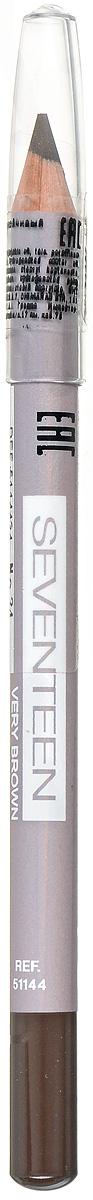 SEVENTEEN Карандаш для век устойчивый т.34 LONGSTAY EYE SHAPERтёмно-коричневый, 1,14 гр5114434Мягкий карандаш Seventeen Longstay Eye Sheper длительного действия, с входящим в состав кукурузным маслом, идеально подчеркивает контур нижних и верхних ресниц. Специальный состав позволяет легко чертить линию, не царапая, не растягивая и не раздражая чувствительную кожу вокруг глаз. Корпус карандаша - деревянный. Подходит для внутреннего века. Офталмологически тестирован. Рекомендуется женщинам, носящим контактные линзы.Товар сертифицирован.