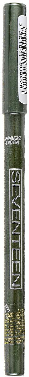 SEVENTEEN Карандаш для век водостойкий т.13 с витамин.Е Super Smooth W/P&Longstay олива, 1,2 гр220550Мягкий, водостойкий, механический карандаш для век Seventeen Super Smooth очень удобен в использовании: не требует затачивания, так как механизм карандаша двигается в двух направлениях. Благодаря мягкой структуре, легко и гладко наносит линию. Не растекается. Офтальмологически тестирован. Разрешается лицам, носящим контактные линзы. Содержит витамин Е и масло Жожоба.Товар сертифицирован.