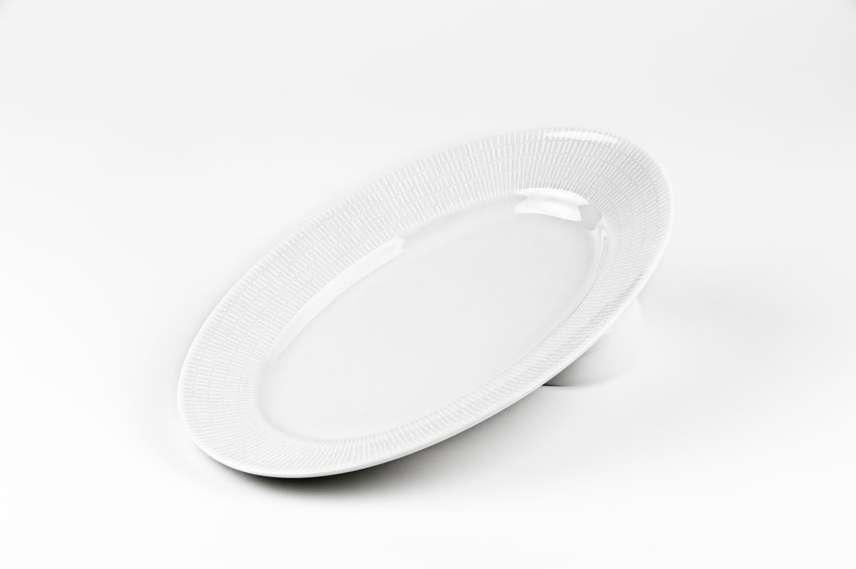 Zen Asymetrie Blanc 2161, Блюдо овальное, цвет: белый tanite victoir platineatine 1489 блюдо овальное 35 см цвет белый с платиной