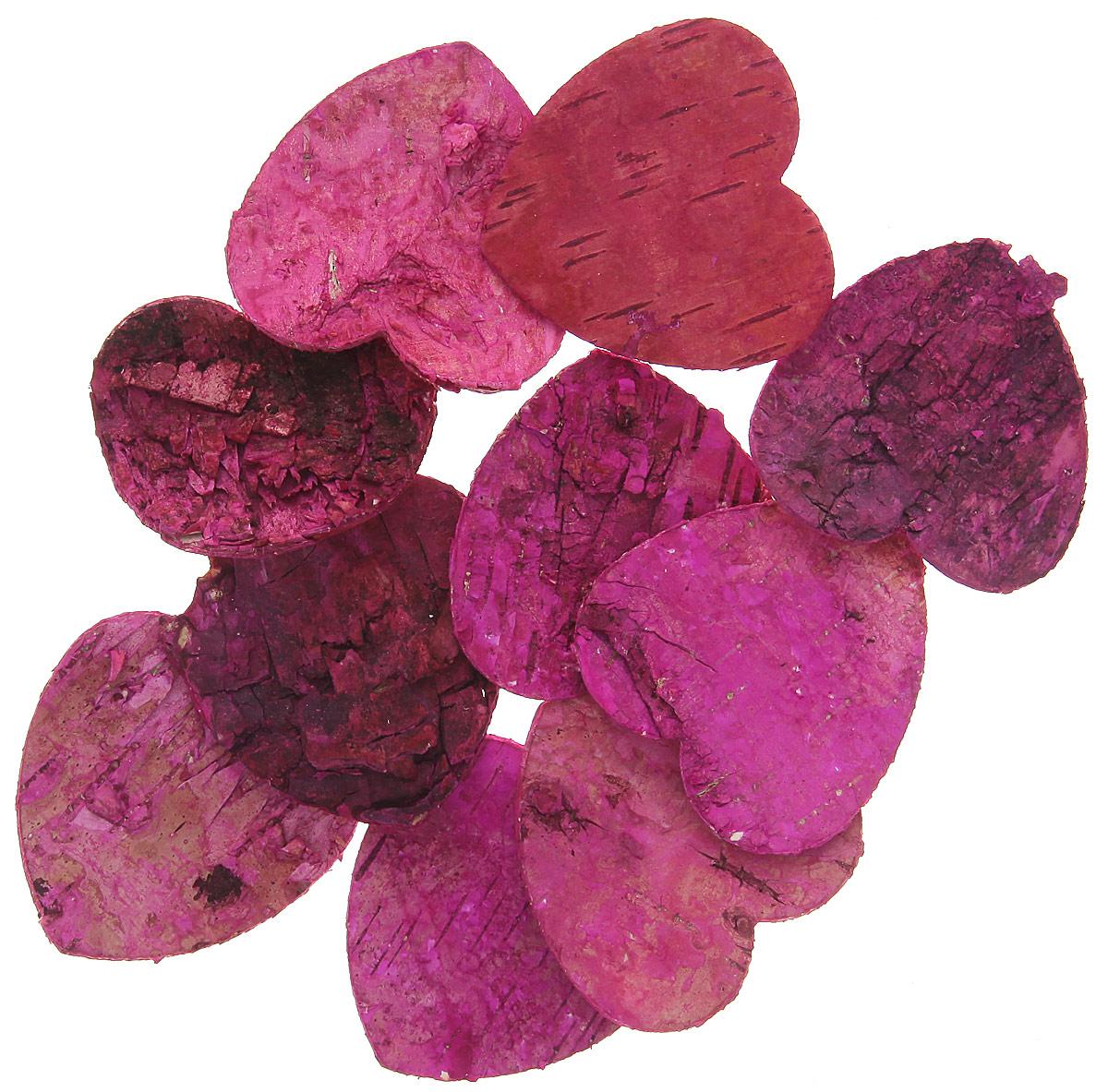 Декоративный элемент Dongjiang Art Сердце, цвет: фуксия, 10 шт7709004_розовыйДекоративный элемент Dongjiang Art Сердце, изготовленный из натуральной коры дерева, предназначен дляукрашения цветочных композиций. Изделие можно также использовать в технике скрапбукинг и многом другом.Флористика - вид декоративно-прикладного искусства, который использует живые, засушенные иликонсервированные природные материалы для создания флористических работ. Это целый мир, в котором естьместо и строгому математическому расчету, и вдохновению. Размер одного элемента: 5 см х 5 см.