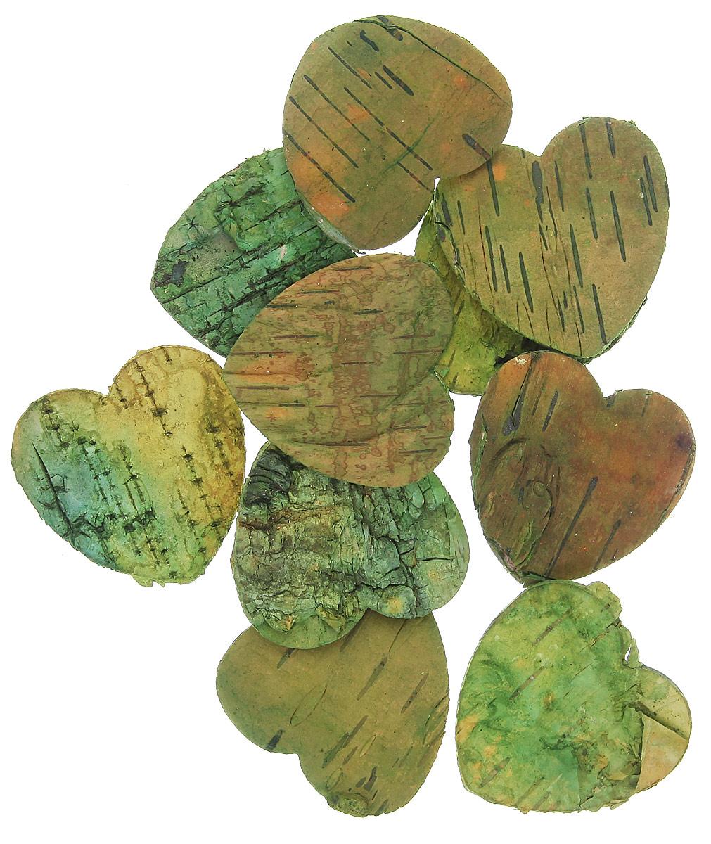 Декоративный элемент Dongjiang Art Сердце, цвет: зеленый, 10 шт7709004_зеленыйДекоративный элемент Dongjiang Art Сердце, изготовленный из натуральной коры дерева, предназначен дляукрашения цветочных композиций. Изделие можно также использовать в технике скрапбукинг и многом другом.Флористика - вид декоративно-прикладного искусства, который использует живые, засушенные иликонсервированные природные материалы для создания флористических работ. Это целый мир, в котором естьместо и строгому математическому расчету, и вдохновению. Размер одного элемента: 5 см х 5 см.